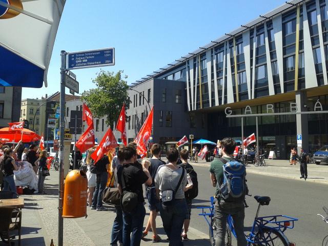 Gegendemo gegen NPD am Garbátyplatz 22.5.2014