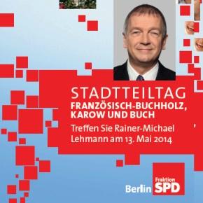 Stadtteiltag: Rainer- Michael Lehmann13.5.2014