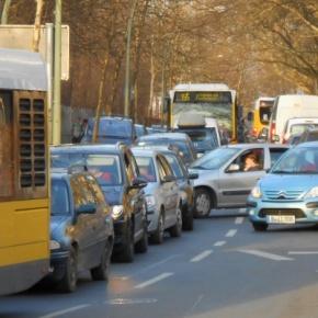 Verkehrsstau in der Granitzstrasse