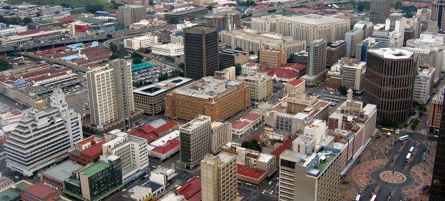 Johannesburg - Blick auf die Innenstadt
