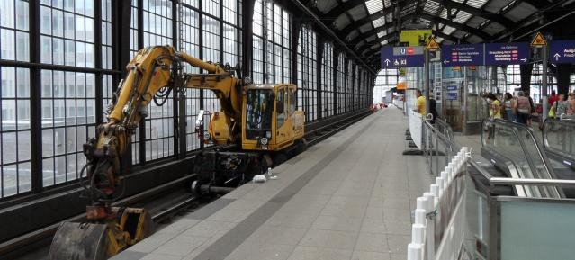 Bauarbeiten im S-Bhf. Friedrichstraße