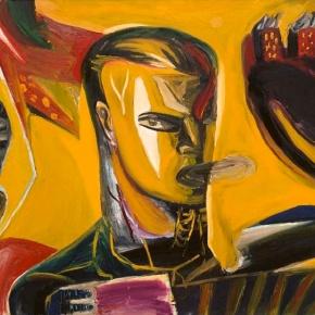 Klaus Killisch: Tango bis es weh tut - 1989, Öl auf Leinwand,