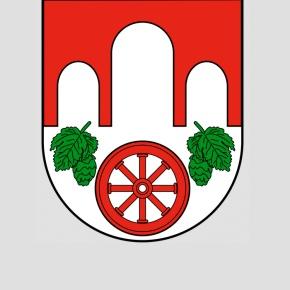 verunstaltetes Stadtwappen von Pankiw