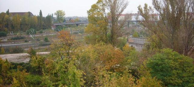 Mauerpark: Baufläche im Sommer 2007