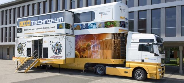 BIO-Technikum-Truck des BMBF