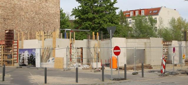 Baustelle im Florakiez im Mai 2015