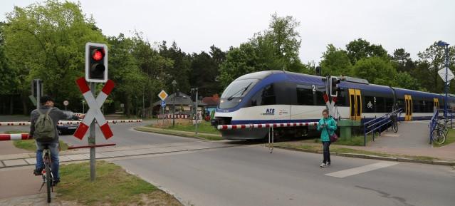 Heidekrautbahn - Abfahrt in Wandlitz