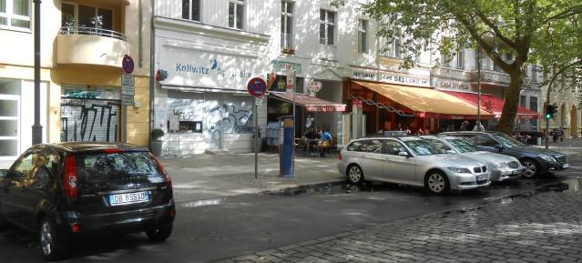 Kollwitzstraße 66 an einem Sonntag