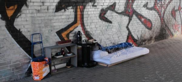 Obdachlosen-Wohnstatt in Prenzlauer Berg