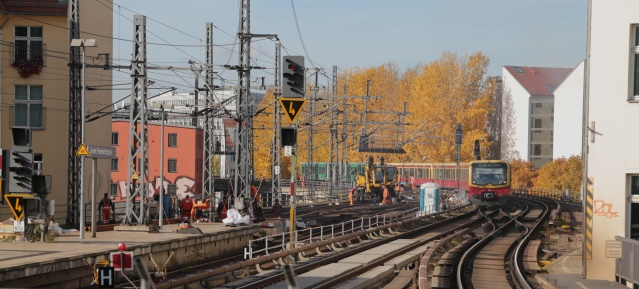 Baustelle auf der Stadtbahn am 26.10.2015