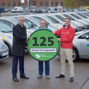 Berliner Wasserbetriebe fahren mit E-Autos