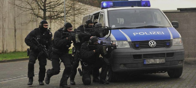 Bundespolizeieinheit BFE+ beim Training