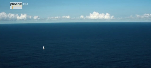 Langfahrtsegler im Ozean