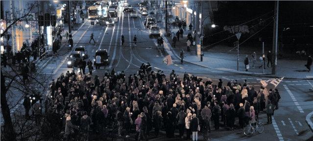 Lichterkette am 27. Januar 2015