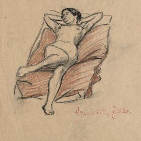Heinrich Zille - Aktstudie
