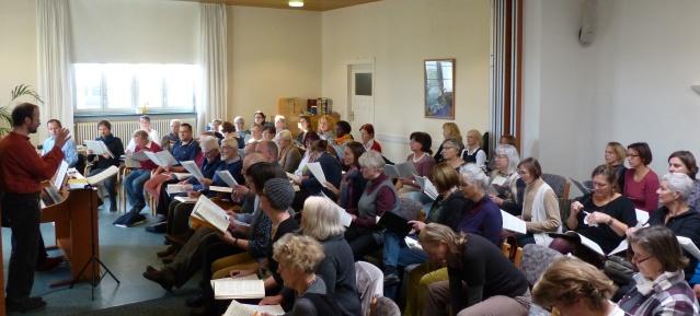 Chorprobe in der Hoffnungskirchengemeinde