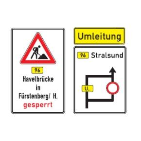 Sperrung der Havelbrücke in Fürstenberg