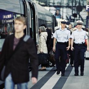 Bundespolizei im Hauptbahnhof