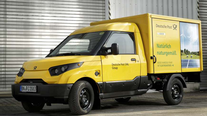 """Streetscooter WORK Foto: """"StreetScooter / Deutsche Post DHL Group"""""""