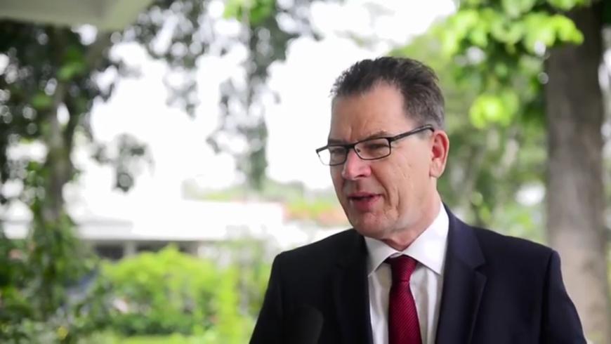 Dr. Gerd Müller (CSU), Minister für wirtschaftliche Zusammenarbeit und Entwicklung