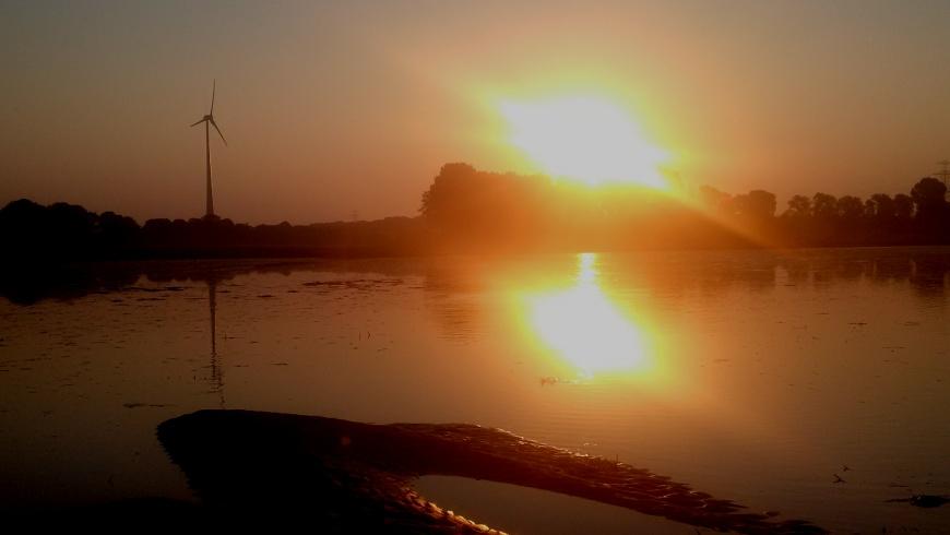 Temporärer Karower Teich nach Wasser-Rohrbruch