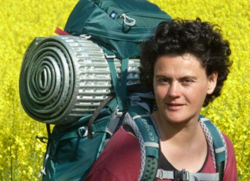 Anja Lindner auf dem Pilgerweg