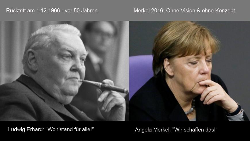 Ludwig Erhard + Angela Merkel