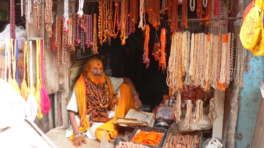 Kettenverkäufer in Vrindavan © Amina Mendez