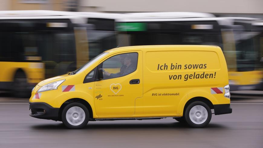 BVG mit Elektroautos im Einsatz