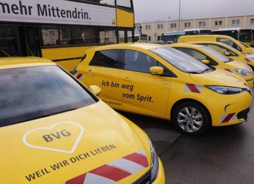 BVG mit 100 Elektroautos im Einsatz