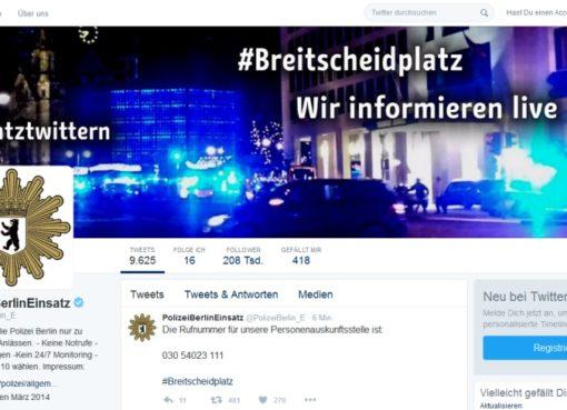 Polizei Berlin: Einsatztwitter am 19.12.2016