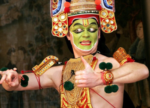 Hardmut Schmidt: Indisches Thullal-Tanztheater - Foto: © Hardmut Schmidt