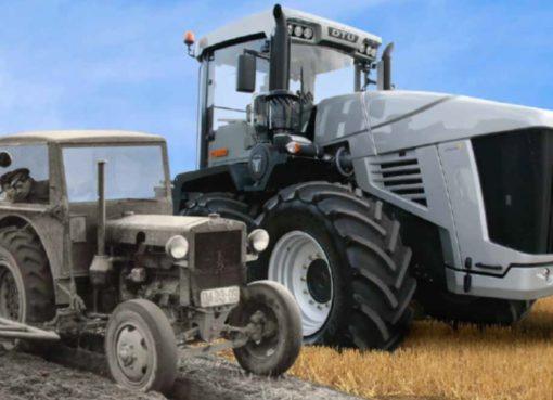 Kleiner Traktor - Riesen-Traktor