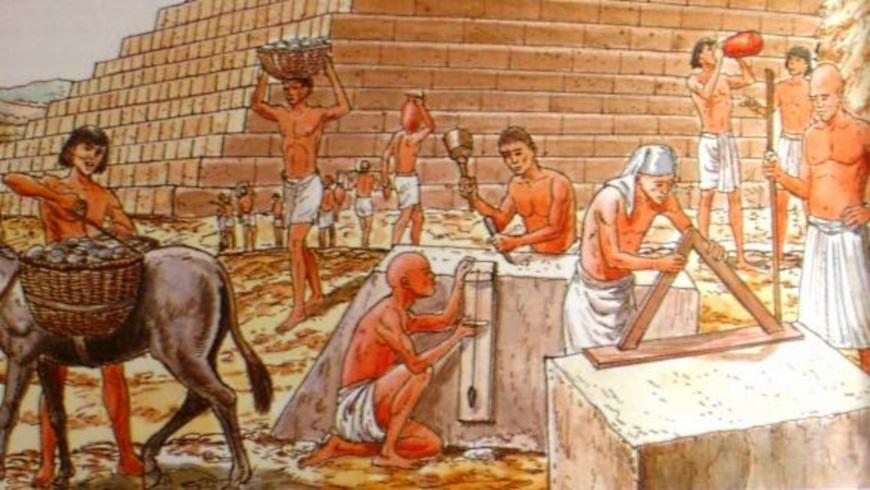 Pyramidenbau in Ägypten