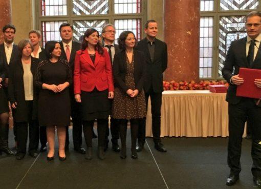 Der Regierende Bürgermeister sein Kabinett.