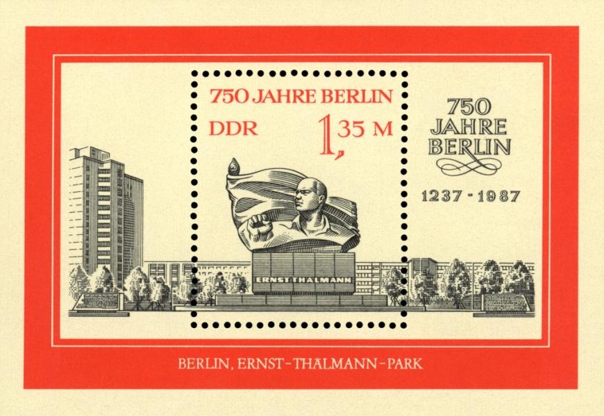 750 Jahre Berlin: Briefmarkenblock der DDR von 1987