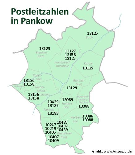 Postleitzahlen von  Pankow