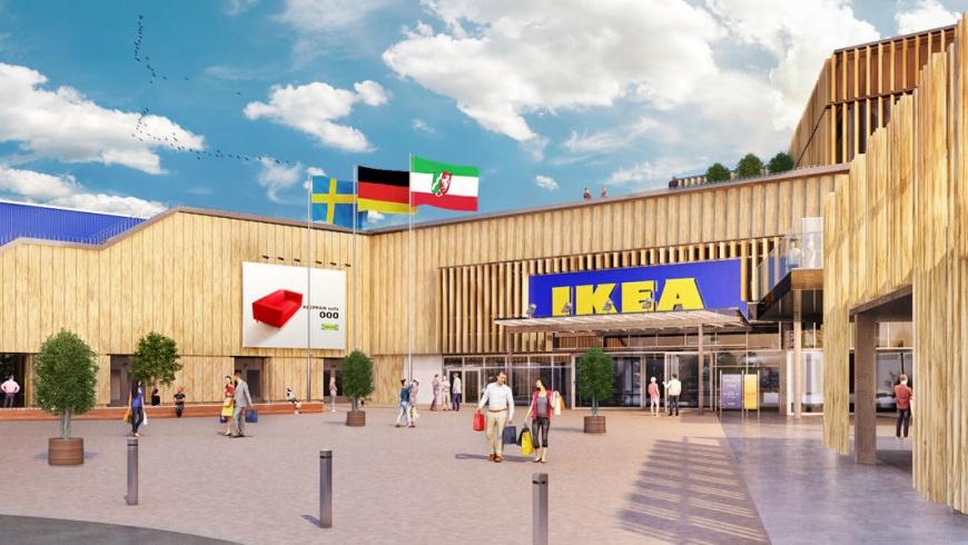 IKEA in Kaarst künftig im Holz-Look