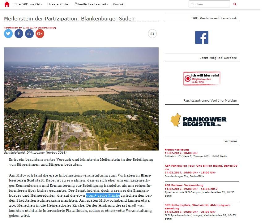 SPD Stadtplanung auf 90 m²