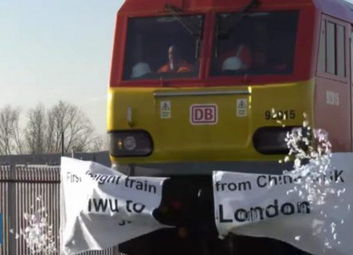 YIWU-LONDON TRAIN erreicht London