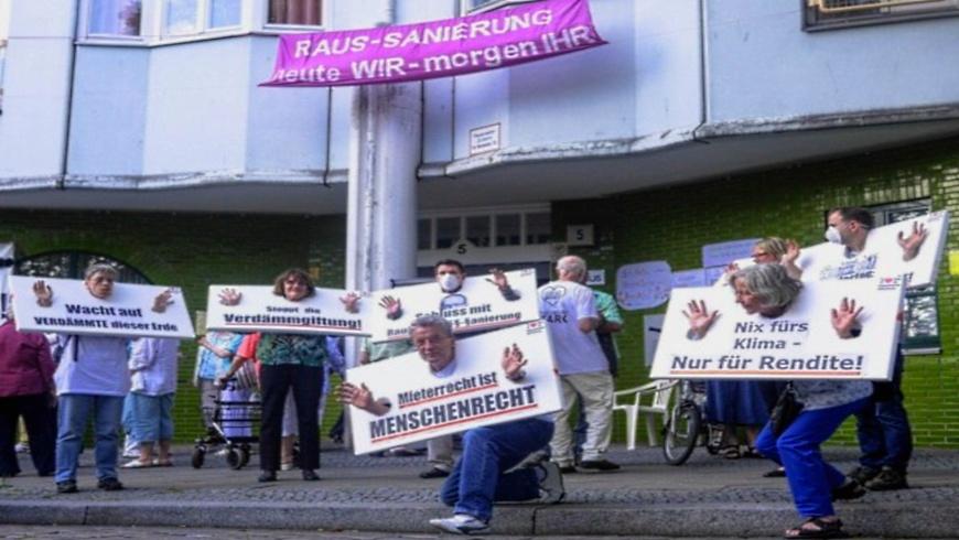 Mieterprotest am Hansaufer