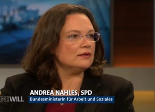 Bundesministerin für Arbeit und Soziales Andrea Nahles (SPD)