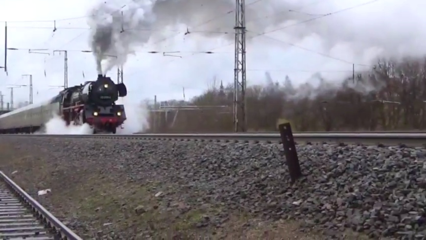 Dampflok fahren in Berlin