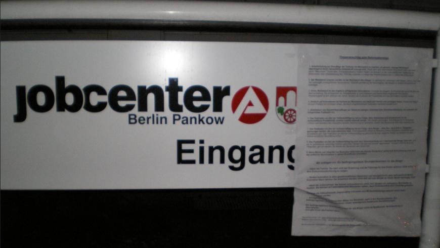 Jobcenter Pankow: DIN A 4 Ergänzung