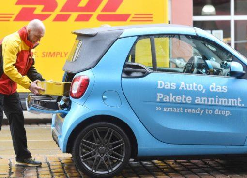 DHL/smart: Kofferraumzustellung
