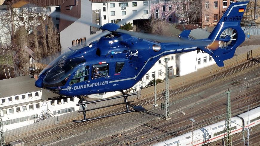 Helikopter der Bundespolizei Eurocopter EC 135