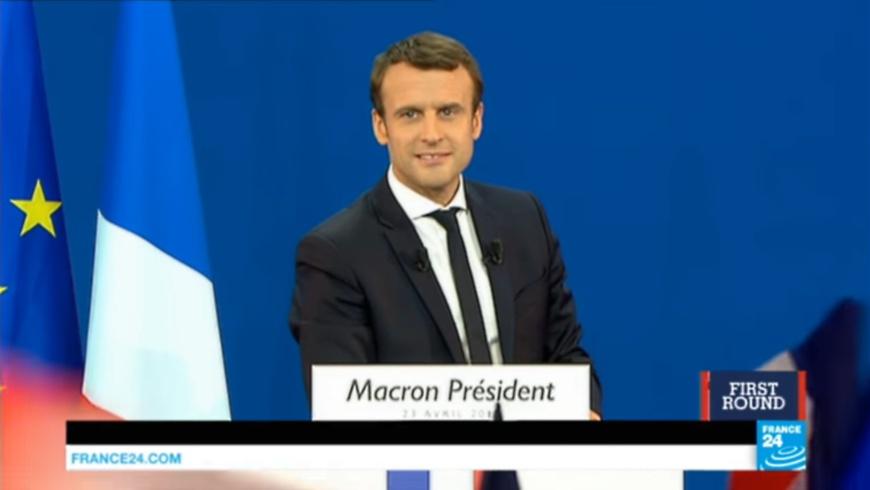 Emmanuel Macron am 23.4.2017