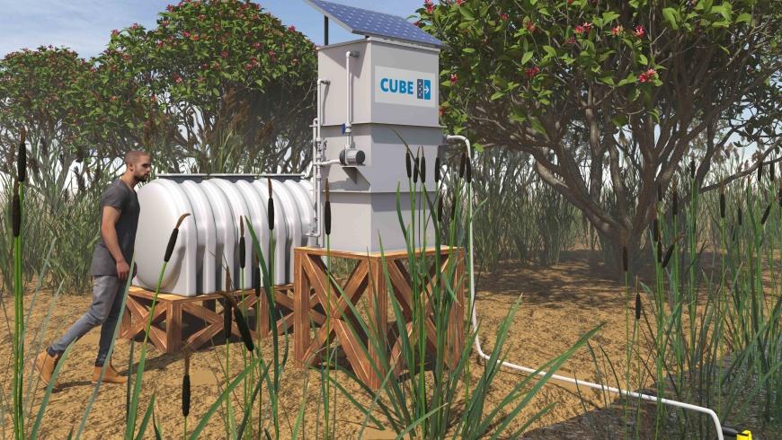 Modell des Acqua Cube