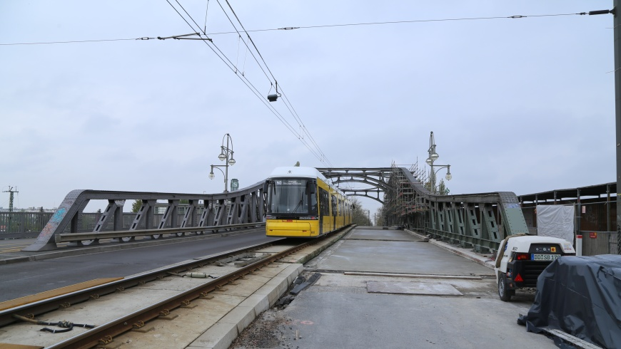 Bösebrücke - nördliche Fahrbahn im Bau