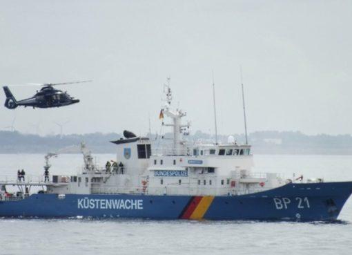 Küstenwachboot der Bundespolizei